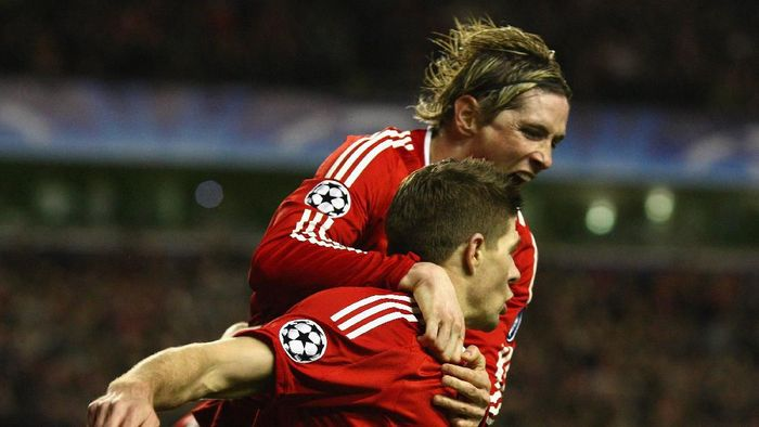 Momen terbaik dalam karier Torres, bermain bareng Steven Gerrard (Laurence Griffiths/Getty Images)