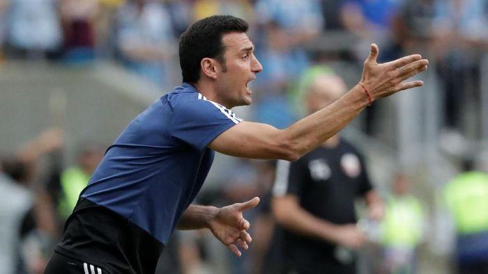Lionel Scaloni menilai Timnas Jerman vs Timnas Argentina menjadi pembuktian tanpa pemain bintang. (Foto: Henry Romero/Reuters)