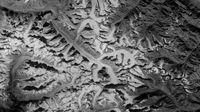 Gletser Himalaya yang dipotret oleh Hexagon (US Geological Survey)