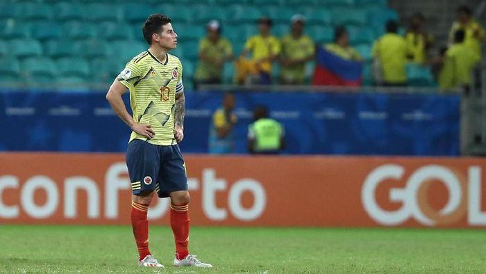 James Rodriguez belum tahu akan masa depannya. (Foto: Bruna Prado/Getty Images)