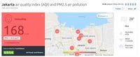 AirVisual Nyatakan Udara Jakarta Tak Sehat, Ini Kata Pemprov DKI