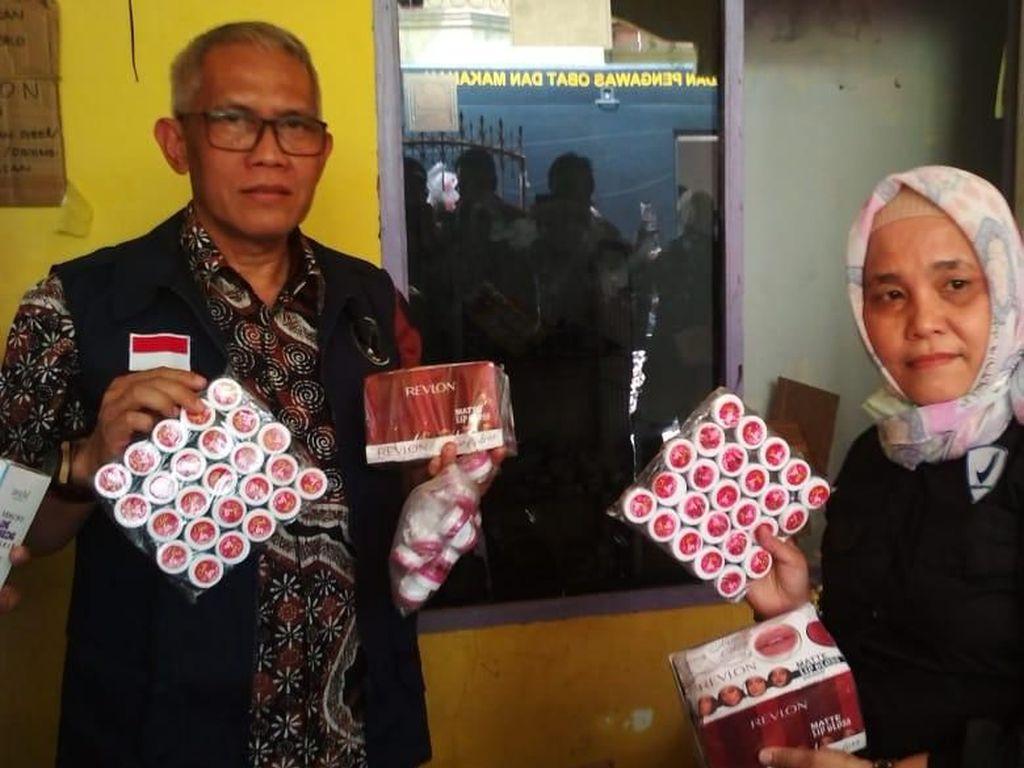 BPOM-Polda Sulsel Gerebek Gudang Kosmetik Tanpa Izin Edar di Makassar