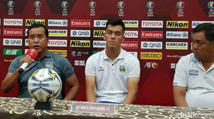 Pelatih Becamex Binh Duong Nguyen Tranh Son(Amalia Dwi Septi/detikSport)