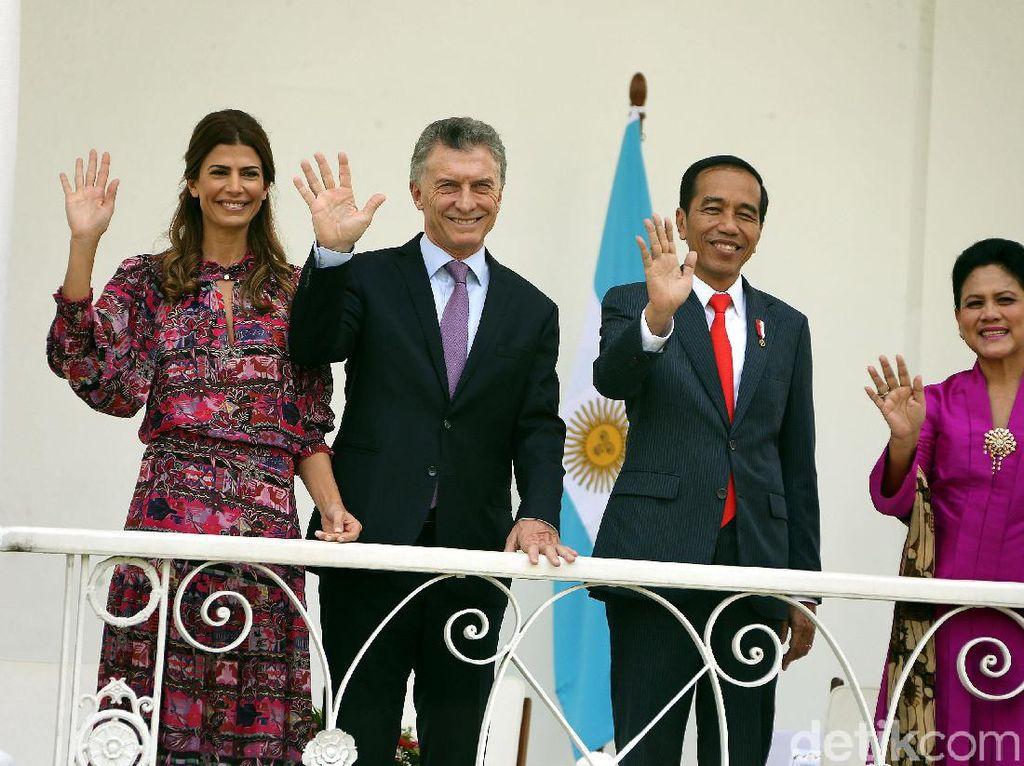 Momen Pertemuan Jokowi dan Presiden Argentina