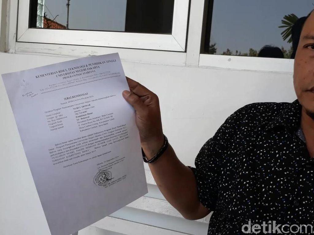 Pihak Kampus Umus Tunjukkan Dokumen Soal Pemalsuan Ijazah Qomar
