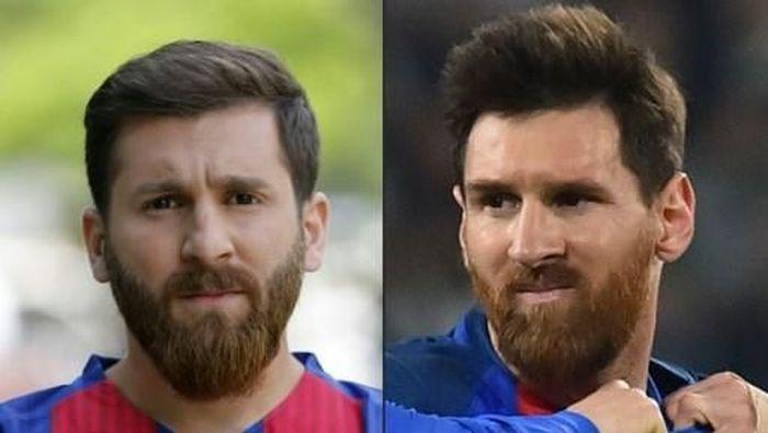 Reza Parastesh (kiri), yang dijuluki Lionel Messi dari Iran, dilaporkan ke polisi karena meniduri 23 wanita. (Foto: Atta KENARE & Giuseppe CACACE / AFP)