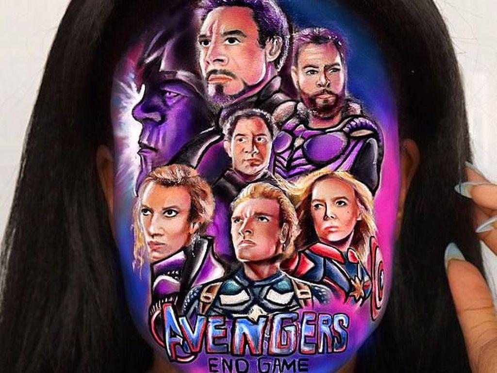 Penampilan Wanita yang Makeup 13 Jam, Dandan Tema Avengers Sampai Toy Story
