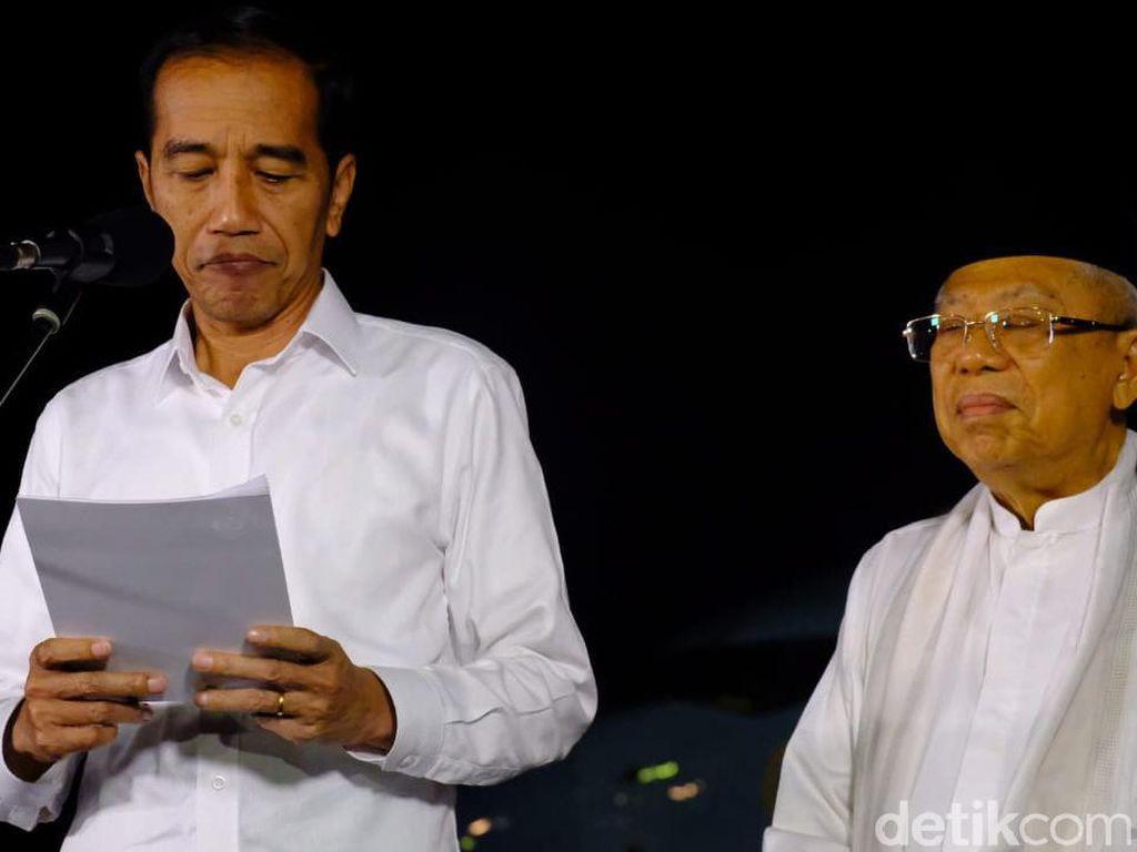Video Pidato Kemenangan Jokowi-Maruf Pascaputusan MK