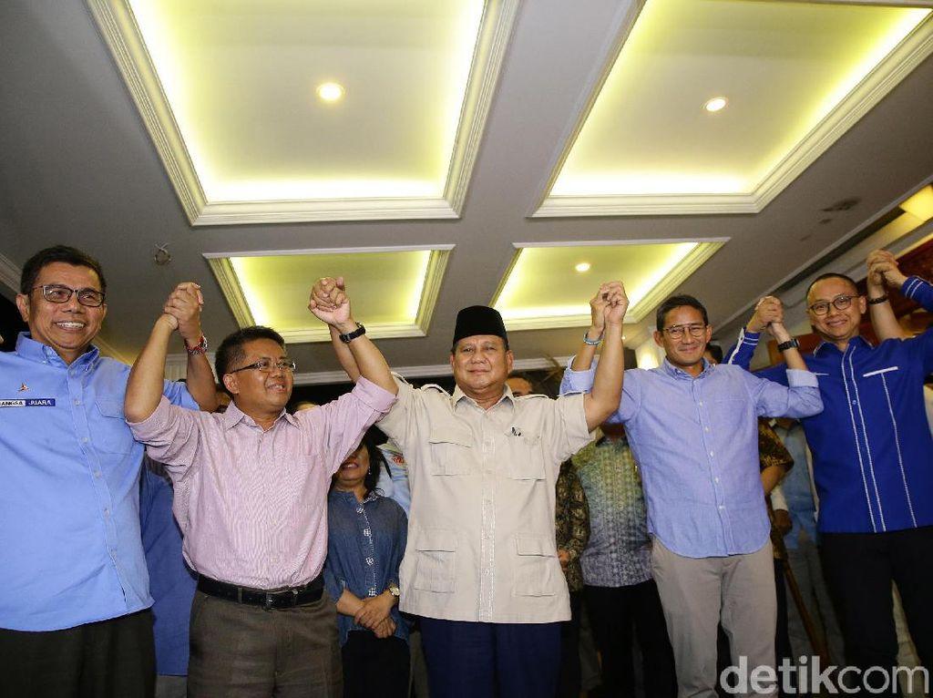 Akan Rapat dengan Parpol Koalisi, Prabowo Tiba di Kertanegara