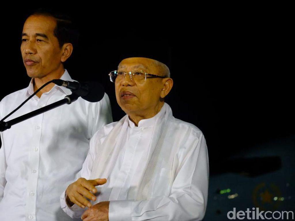 Usai Salat Asar, Jokowi-Maruf Berangkat ke Penetapan Capres-Cawapres Terpilih
