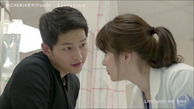 Song Song Couple saat di drama Descendants of THe Sun