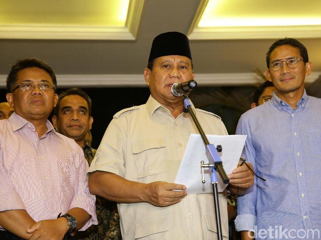 Tak Beri Selamat Jokowi, Ini Pidato Lengkap Prabowo Tanggapi Putusan MK