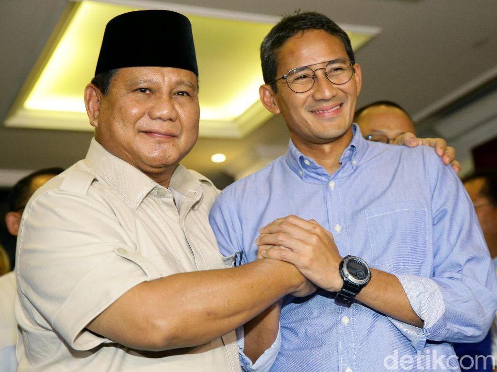 Prabowo-Sandiaga Tak akan Hadiri Penetapan Capres Terpilih oleh KPU