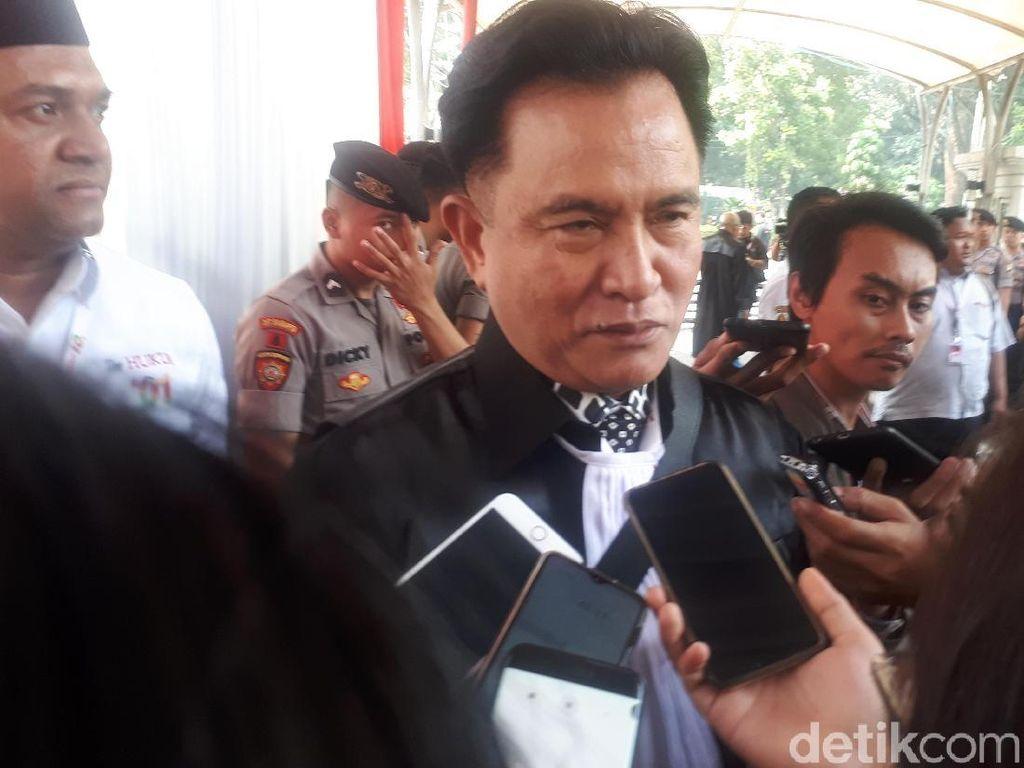 Yusril Yakin Gugatan Prabowo Ditolak Tanpa Dissenting Opinion