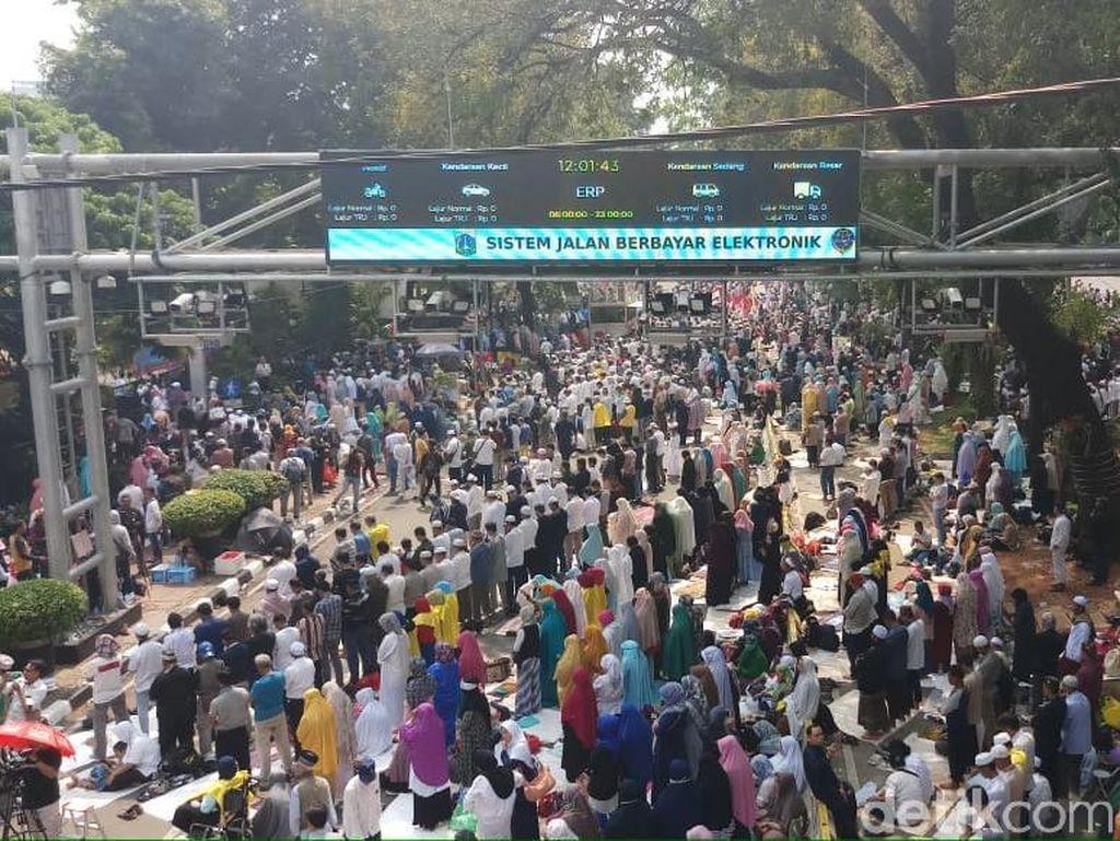 Suasana Sekitar Gedung MK Jelang Putusan Sengketa Pilpres