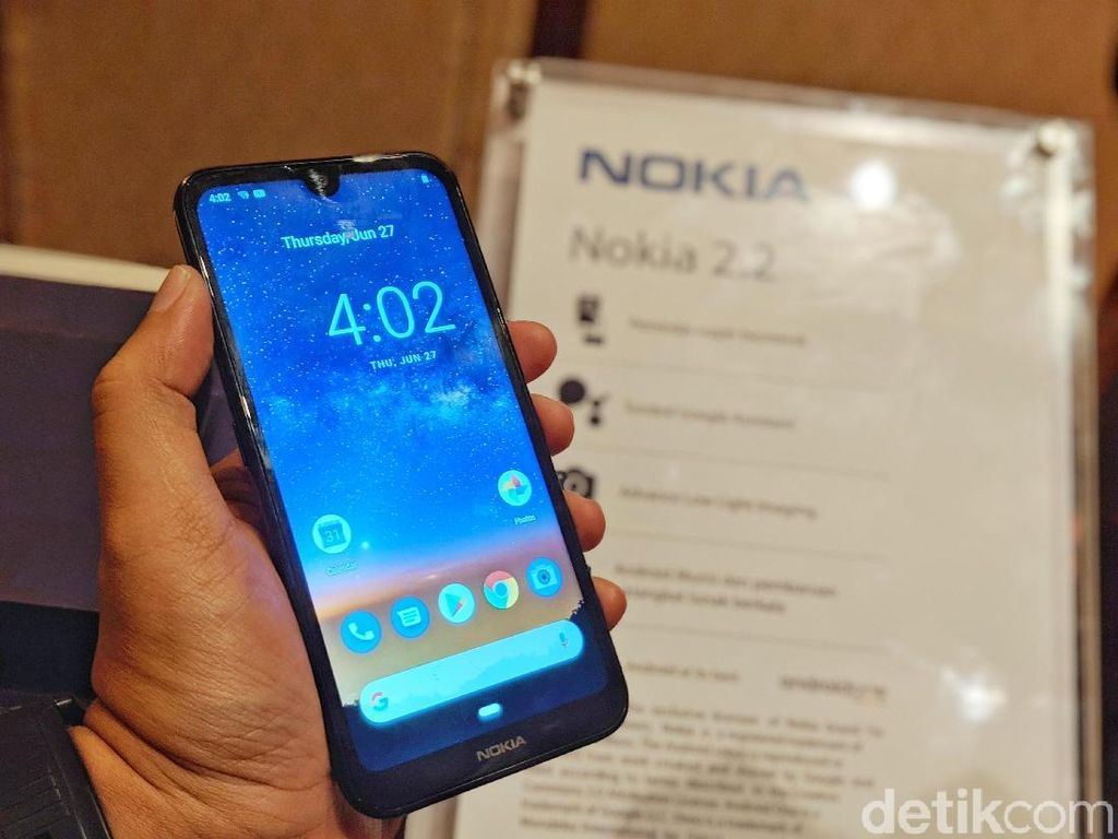 Nokia 2.2 Tawarkan Fitur Kekinian dengan Harga Bersahabat