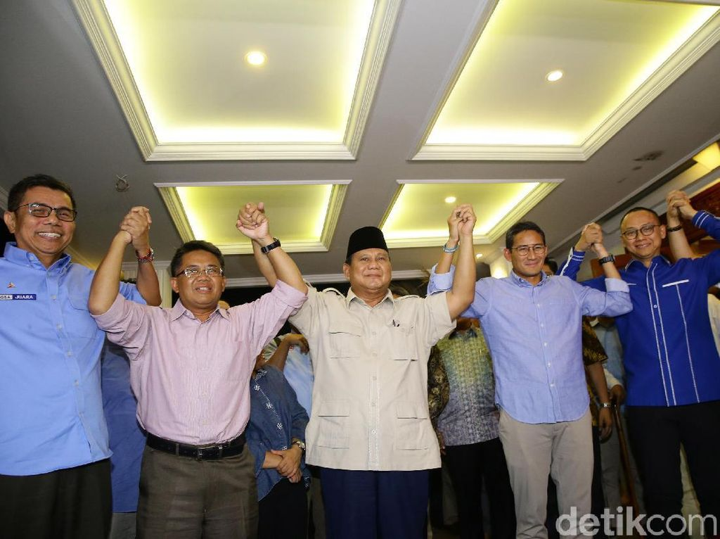 Koalisi dan BPN Prabowo-Sandi Resmi Bubar