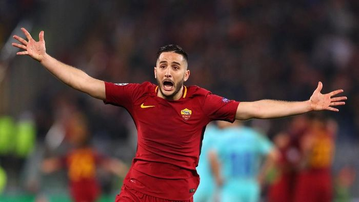 AS Roma melepas Kostas Manolas ke Napoli. (Foto: Catherine Ivill / Getty Images)
