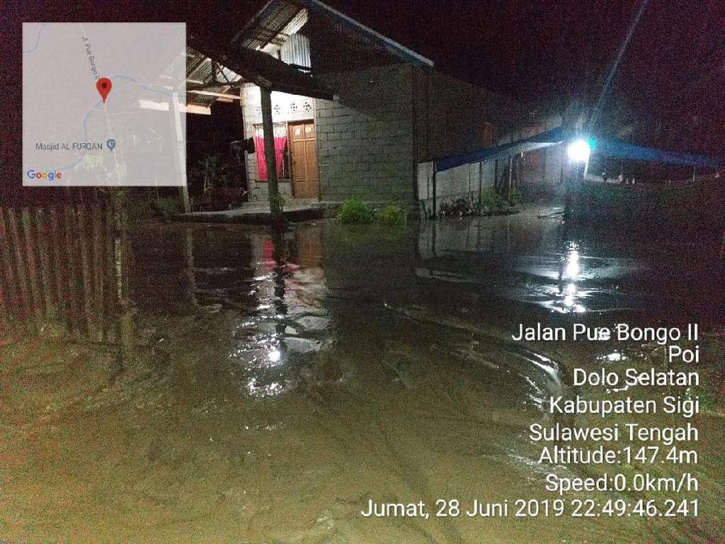 Sigi Sulteng Masih Diguyur Hujan, Banjir Meluas hingga ke 6 Desa