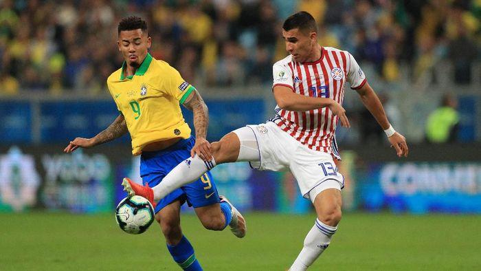 Brasil ke semifinal Copa America 2019 setelah mengalahkan Chile lewat adu penalti. (Foto: Buda Mendes/Getty Images)