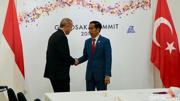 Jokowi dan Erdogan di KTT G20 Osaka