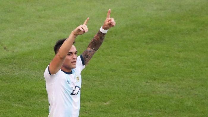 Lautaro Martinez tengah tampil tajam bersama Timnas Argentina (Sergio Moraes/Reuters)