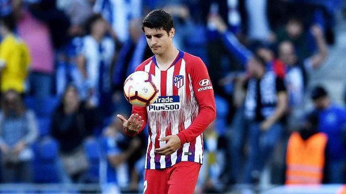 Alvaro Morata adalah striker yang pernah mencicipi akademi Atletico pada 2005-2007 dan di Madrid pada 2008-2010. Karierprofesional Morata dibuat bersama Los Blancos pada 2010. Kini dia berkostum Atletico setelah sebelumnya pernah main untuk Juventus dan Chelsea. (Foto: Gonzalo Arroyo Moreno/Getty Images)