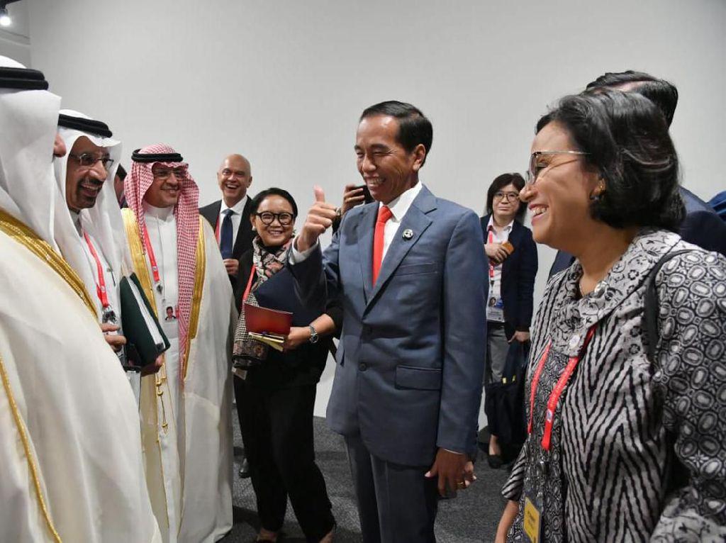 Di Depan Jokowi, Menteri Arab Saudi Puji Sri Mulyani dan Menlu
