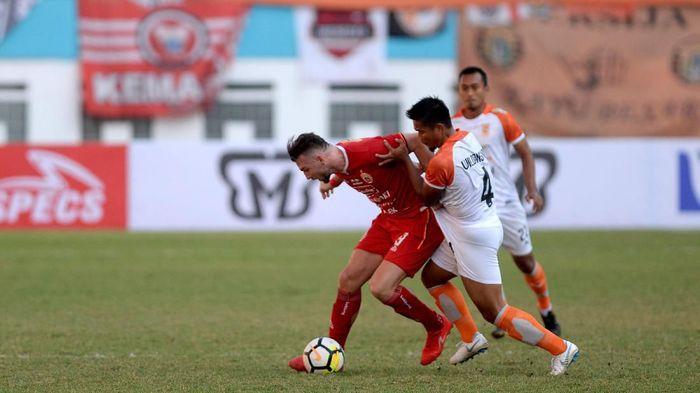Marko Simic saat Persija Jakarta melawan Borneo FC di Piala Indonesia. (Foto: Antara Foto)