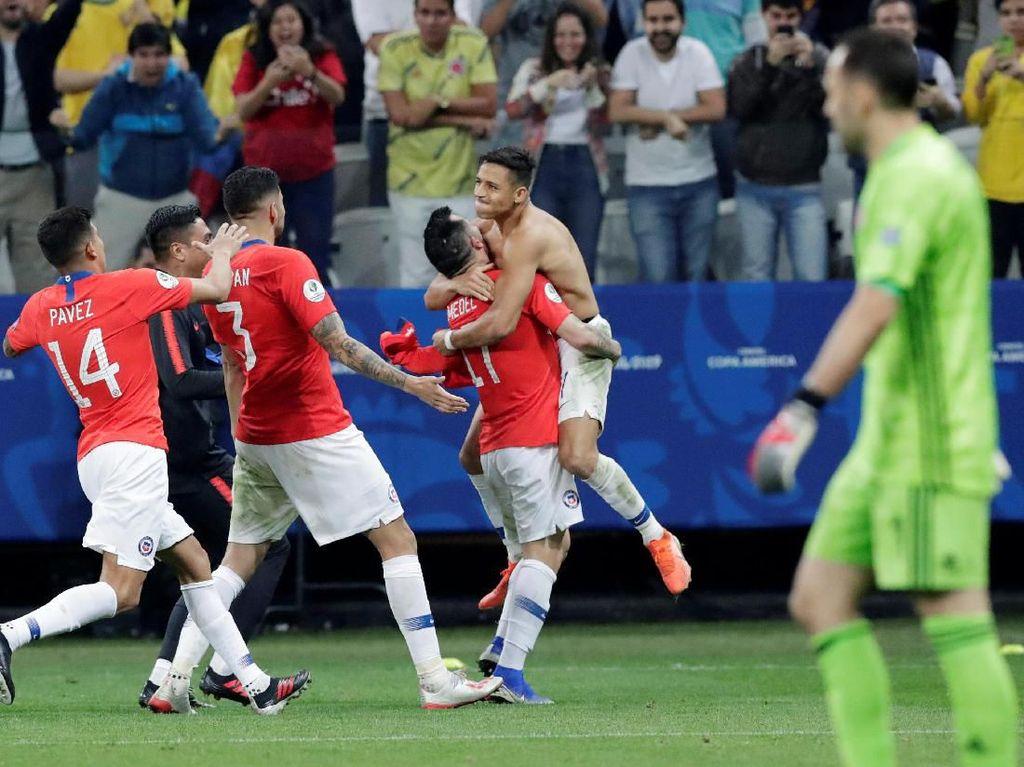 Kolombia Vs Chile: Vidal cs Maju ke Semifinal Lewat Adu Penalti