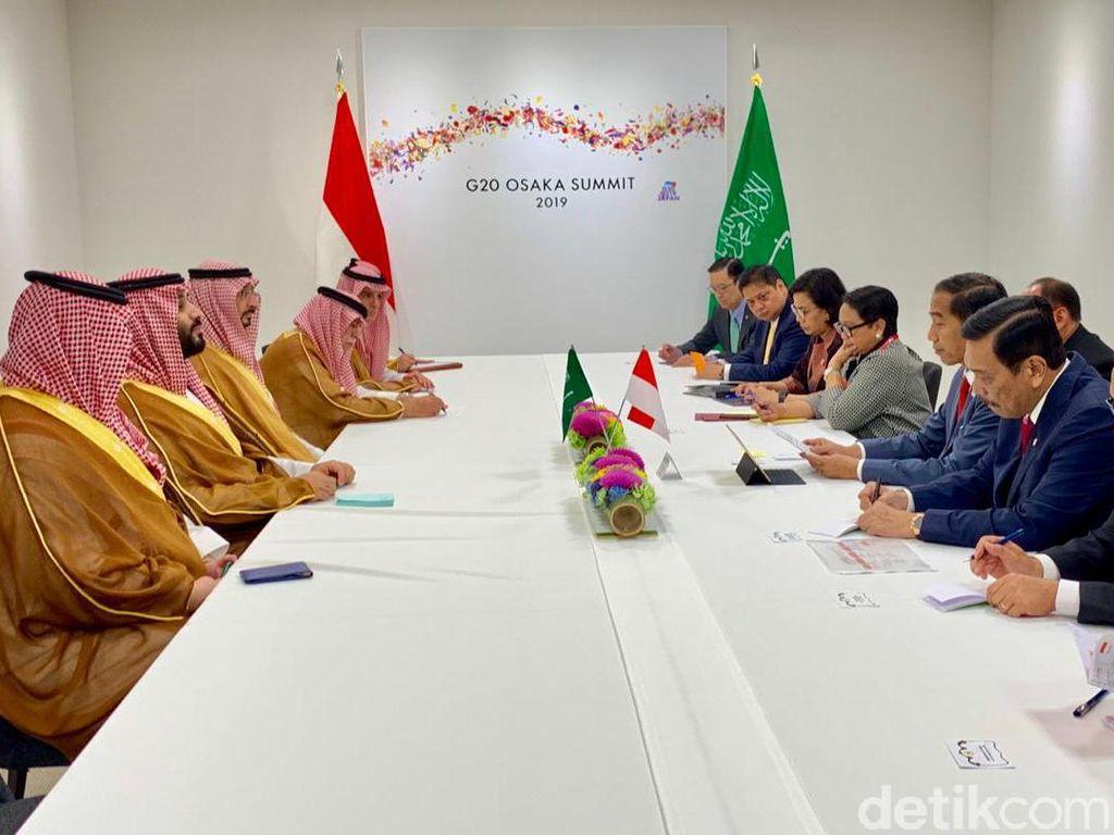 Bertemu Putra Mahkota, Jokowi Dukung Saudi Jadi Tuan Rumah KTT G20 2020