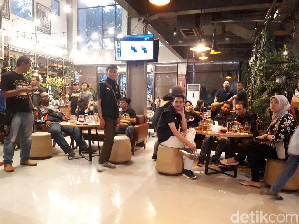 Serunya Nobar MotoGP Belanda bersama Detiksport dan Yamaha