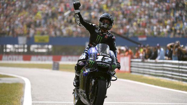 Maverick Vinales jadi pemenang di MotoGP Belanda.