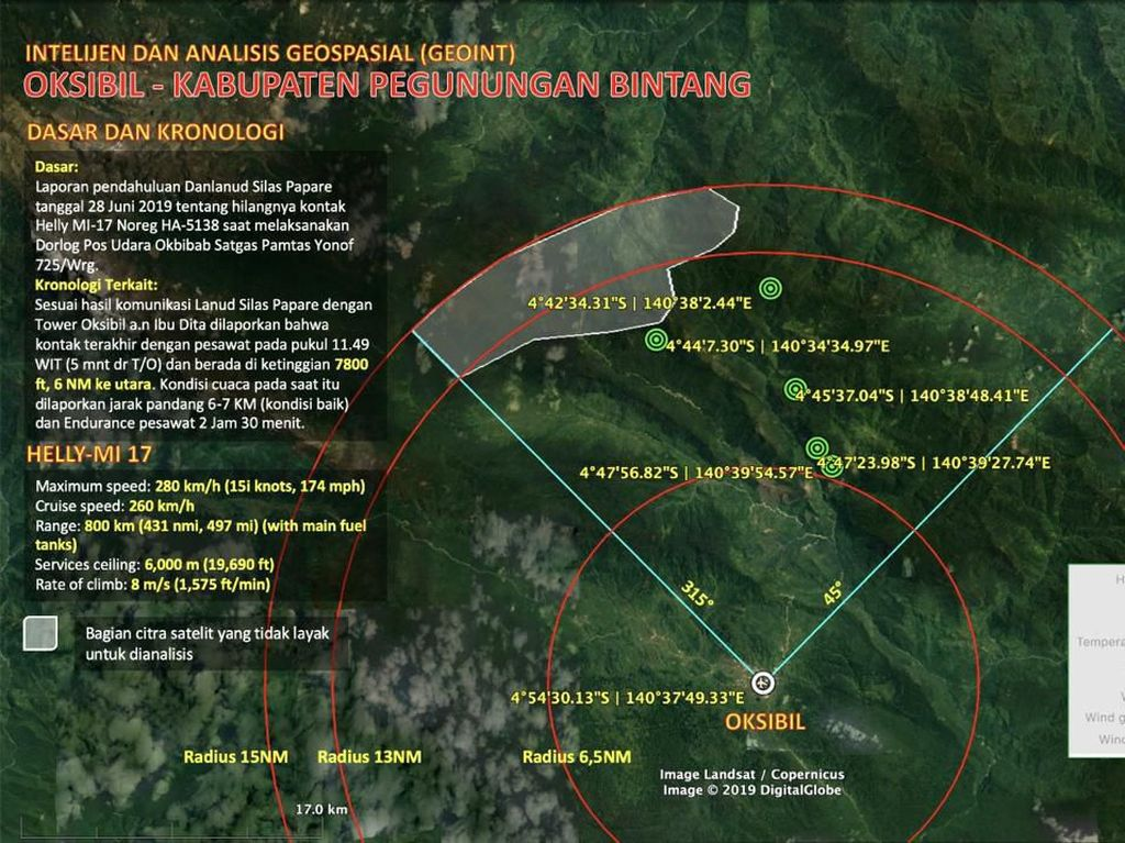 Polisi Masih Verifikasi Kabar Heli MI-17 Diduga Ditemukan di Papua