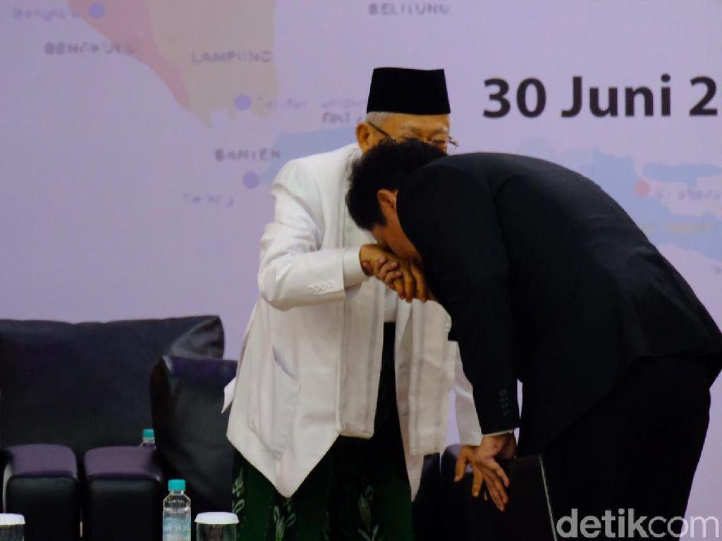 Habiburokhman Jelaskan Aksi Cium Tangan Wapres Terpilih Maruf Amin