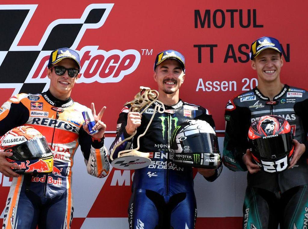 Vinales Menangi MotoGP Belanda, 4 Pabrikan Sudah Raih Podium Pertama