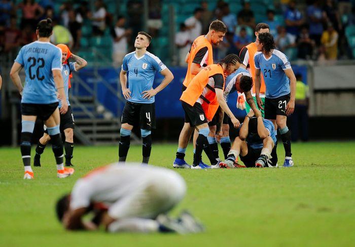 Uruguay disingkirkan Peru lewat adu penalti di perempatfinal Copa America 2019. (Foto: Luisa Gonzalez / Reuters)