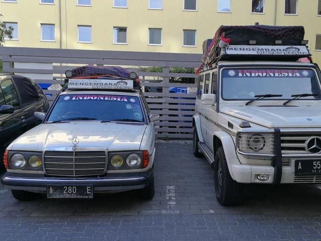Rombongan Asal Banten Mengembara Lintas Benua dengan Mercedes-Benz Tua