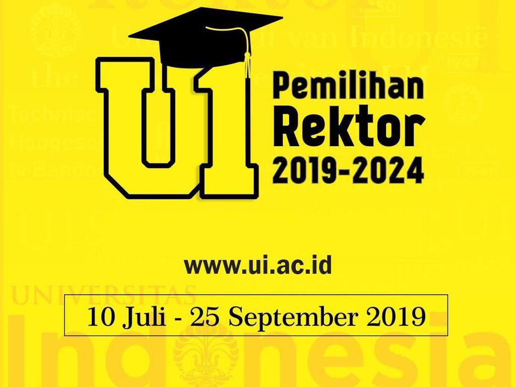 UI Gelar Pemilihan Rektor 2019-2024, Begini Mekanismenya