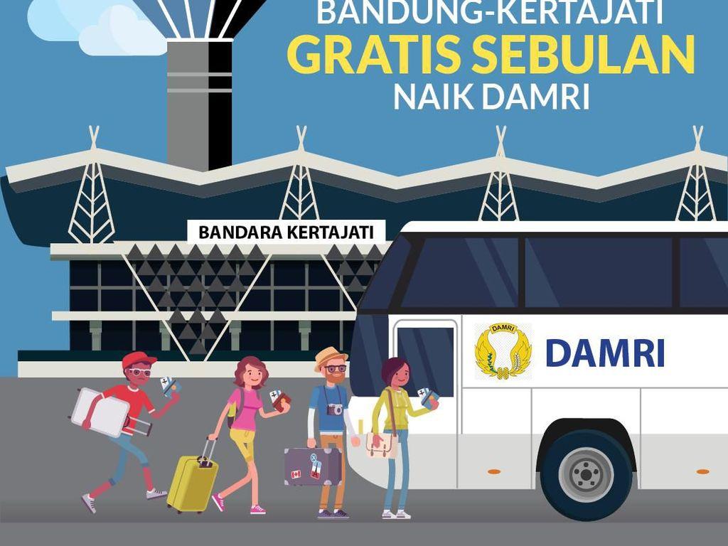 Sebulan Gratis Bandung-Kertajati Naik Damri