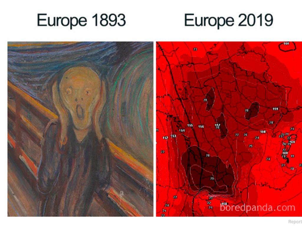 Suhu Tembus 45 Derajat, Netizen Eropa Curhat