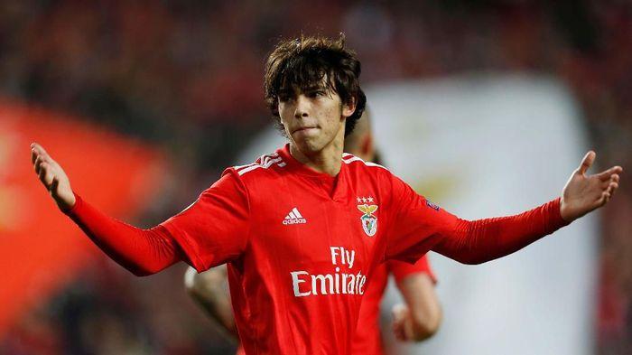 Joao Felix cedera di laga debut bersama Atletico Madrid (REUTERS/Pedro Nunes)