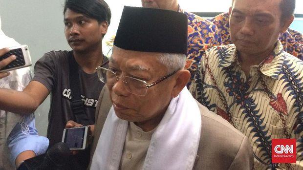 Ketua MUI sekaligus wakil presiden terpilih Ma'ruf Amin.