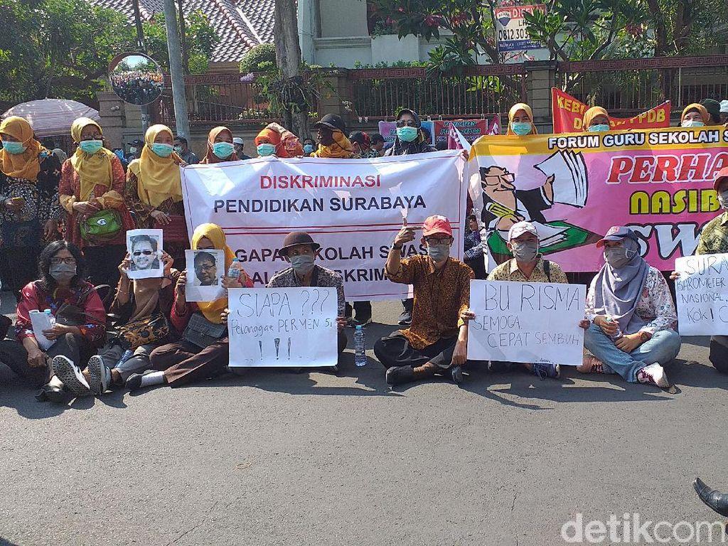 Guru Swasta Surabaya Protes Kadispendik Soal Pagu PPDB Tambahan