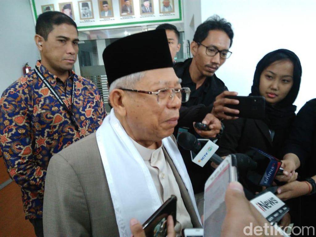 Maruf Amin Jelaskan Proses Penggantian Ketum MUI