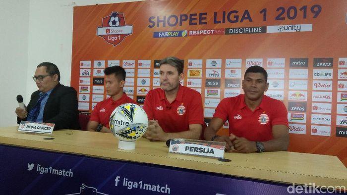 Julio Banuelos memberi keterangan pers jelang laga Persija Jakarta vs PSS Sleman. (Foto: Amalia Dwi Septi/detikSport)