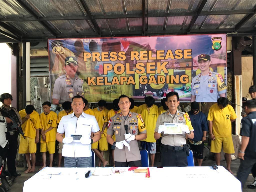 Ribut Geng Motor Berujung Aksi Curanmor di Kelapa Gading, 5 Orang Ditangkap