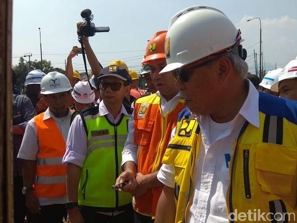 Menteri PUPR Cek Pembangunan Tol Cisumdawu di Jatinangor