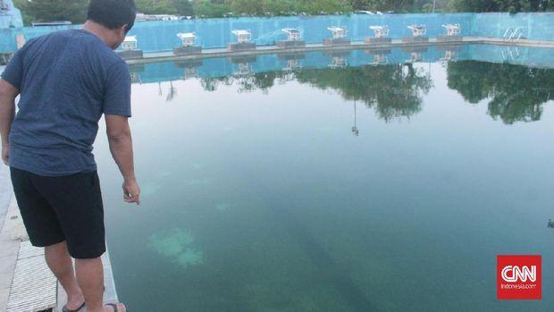 Jakabaring Sport City tunggak listrik Rp3 M, atlet Berlatih di kolam berlumut