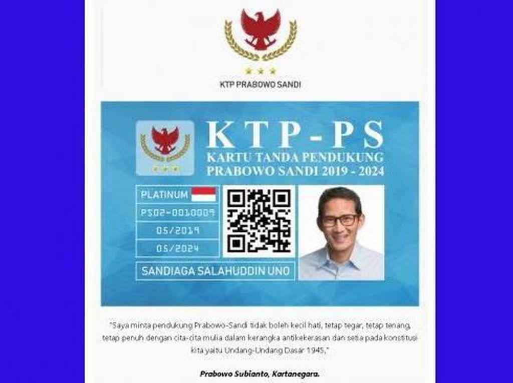 Tak Ada Otorisasi dalam Ajakan Bikin KTP Prabowo-Sandi